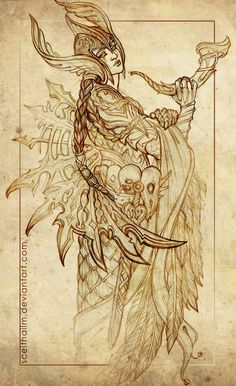 Hedendom — The Norse Pantheon creatively captured by Sceith. Valkerie Tattoo, Valkyrie Norse, Shield Maiden, Viking Tattoos, Warrior Tattoos, Norse Vikings, Asatru, Viking Art, Norse Mythology