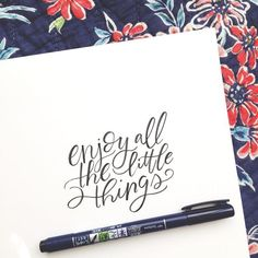 Lettering by Kiley in Kentucky using Tombow USA Fudenosuke Hard Tip Handwritten Quotes, Hand Lettering Quotes, Brush Lettering, Lettering Ideas, How To Write Calligraphy, Modern Calligraphy, Calligraphy Quotes, Pretty Letters, Hand Lettering Tutorial