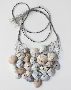 seashell necklace, rope, net, design squish blog