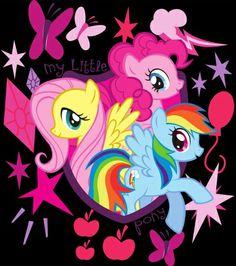 My Little Pony Friendship Is Magic Fluttershy, Pinkie Pie,  Rainbow Dash