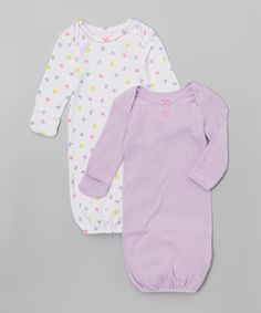 Look at this #zulilyfind! Sterling Baby Lilac & White Butterfly Gown Set - Infant by Sterling Baby #zulilyfinds