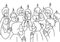 Pentecost christian coloring pages ~ Descent of the Holy Spirit coloring page   Ideas for ...
