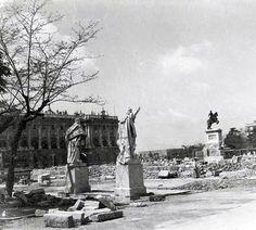 Plaza Oriente de Madrid en obras, 1925  - Portal Fuenterrebollo