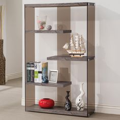 WEATHERED GREY BOOKCASE 800525 BY COASTER
