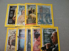 National Geographic 1966 9 Issues April- Dec. ~ Nat Geo ~ Vintage Magazines ~ Vintage Travel Magazines by MichellesVarietyShop on Etsy