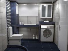 πρόταση μπάνιου Stacked Washer Dryer, Washer And Dryer, Washing Machine, Laundry, Home Appliances, Bath, Corfu, Laundry Room, House Appliances