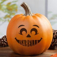 The Holiday Aisle Personalized Pumpkin Face Size: H x W x D, Customized: Yes Christmas Tree Set, Nutcracker Christmas, Blue Christmas, Holiday Tree, Holiday Crafts, Scary Pumpkin, Pumpkin Faces, Pumpkin Carving, Pumpkin Painting
