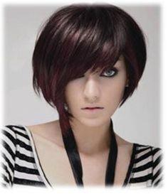 Magenta Highlights/Dark auburn Hair...fresh