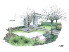 Design a front yard existing path