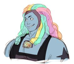 Im sorry I dont usually post things from episodes that havent aired but I really wanted to draw her…. Bismuth Steven Universe, Steven Universe Gem, Brave Witches, Chibi, Silent Horror, Steven Universe Drawing, Cartoon Network Shows, First Animation, Bubbline