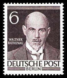 Briefmarkenserie Männer aus der Geschichte Berlins I, Walther Rathenau, (1867-1922)