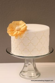 Moroccan Cake + A Wafer Paper Flower Tutorial