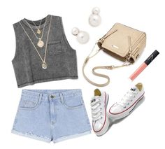"""""""Street Style"""" by aria-star ❤ liked on Polyvore featuring Auden, Converse, NARS Cosmetics, StreetStyle and fashionset"""