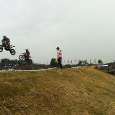 Sprung im Infield (Motocrossstrecke Talkessel)