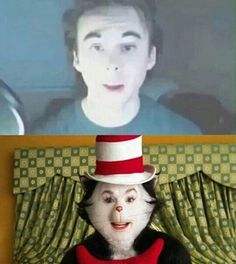 Leafyishere YouTube, Cat in the hat meme