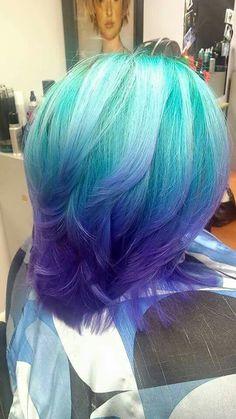 Arctic Fox hair color teal blue purple ombre