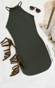 Army Green Sexy Dress Fall Outfits, Summer Outfits, Cute Outfits, Fashion Outfits, Womens Fashion, Sexy Dresses, Cute Dresses, Las Vegas Outfit, Romper With Skirt