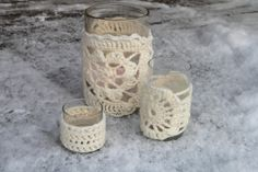 Crocheted votives
