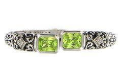 Emerald Green Radiant Designer Bangle
