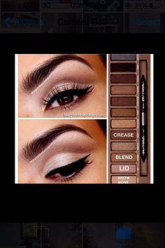 Make Up Urban Decay Naked Palette Makeup 101, Makeup Goals, Love Makeup, Makeup Inspo, Makeup Inspiration, Beauty Makeup, Makeup Ideas, Classy Makeup, Makeup Hacks