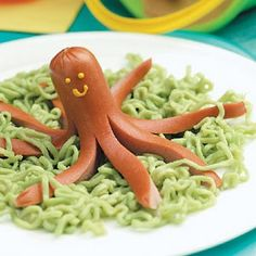 octopus in seaweed for a fun and quick kid dinner