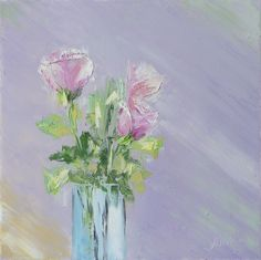 original oil painting roses flowers floral textured green abstract purple home decor palette knife thick signed. Textured knife work signed by artist , original floral art. Stretched canvas art. I have been recently looking into floral theme. The spring is here finally! The delicacy of the flowers is such an elegant subject! Using different photographs and paintings as a reference material i created this painting. It is a product of my imagination. Please take a look at how the painting…