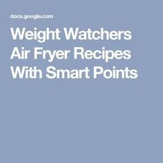 Weight Watchers Air Fryer Recipes With Smart Points