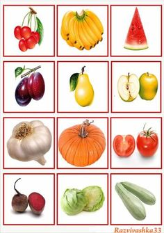 Frutas y hortalizas                                                                                                                                                     Mais Easy Drawings For Kids, Drawing For Kids, Fruit And Veg, Fruits And Vegetables, Vegetable Pictures, Dora, Plate Crafts, Garden Theme, Science And Nature