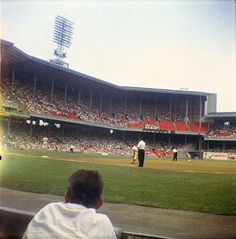 Rare color photo of Philadelphia's Shibe Park, August 1960. Shibe Park operated from 1909 to 1970; demolished 1976. Photo courtesy of Lost Ballparks.