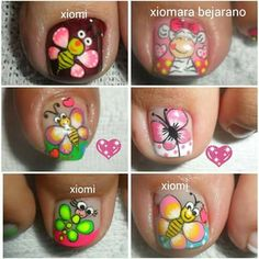 Fancy Nails Designs, Pedicure Designs, Toe Nail Designs, Toe Nail Art, Toe Nails, Cute Pedicures, French Pedicure, Flower Nails, Gorgeous Nails