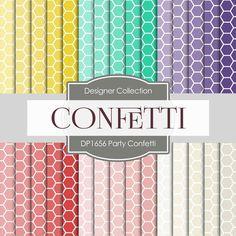 Party Confetti Digital Paper DP1656 - Digital Paper Shop - 1