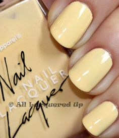 pale yellow nails..i actually really like it