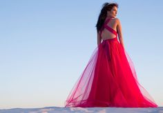 Add a pop of fresh colour to your photos with this gorgeous shade of pink. Order yours at www.infinitybridalwear.co.za