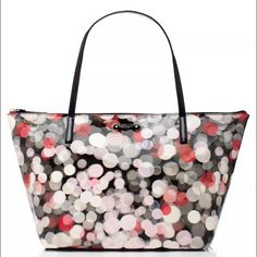 Kate spade bubble tote Super cute bag.Has a rip on lining and some regular wear but still has tons of use left. kate spade Bags Totes