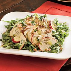 Marian's Apple-Fennel Salad   Raw fennel is crisp and tasty, a perfect complement to apples and arugula.