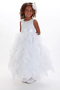 Flower Girl Dresses - Flower Girl Dress Style 888 - BUILD YOUR OWN DRESS in Choice of White or Ivory