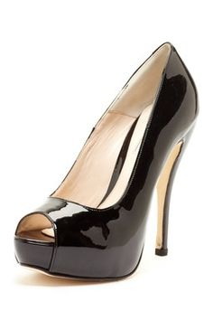 Charles by Charles David Della Platform Pump Open Toe pump black Shoes - Zapatos de plataforma zapatillas negras ♛