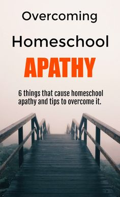 Overcoming Homeschool Apathy - 6 Things that cause homeschool apathy and tips to overcome it