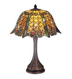 "Meyda 21""H Duffner & Kimberly Shell & Diamond Table Lamp"
