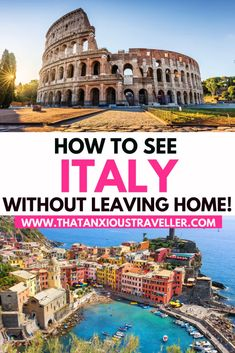 Want to visit Italy without leaving home Discover how you can take yourself on a completely virtual tour of Italy with sights food art and culture Italy Travel Tips, Travel Destinations, Travel Diys, Travel Europe, Holiday Destinations, Budget Travel, Travel Guide, Virtual Travel, Virtual Art