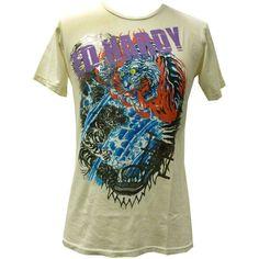 Bnwt Men/'s Ed Hardy Rhinestone Platinum Glory Skull Panther T Shirt New Small