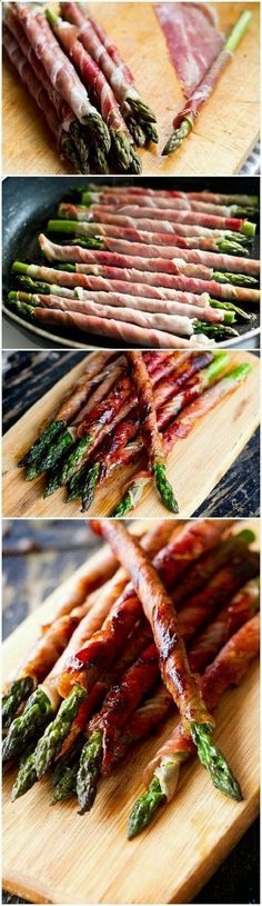 esparragos con carne asada