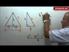 Área de un triángulo equilátero en función de su lado: Julio Rios explica cómo expresar el área A de un triángulo equilátero como una función de su lado L.