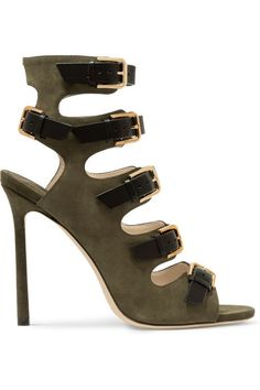 Jimmy Choo - Trick suede and leather sandals