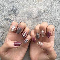 by Salon de Korean Nails, Japanese Nails, Creative Nails, Red Nails, Nail Tech, Pretty Nails, You Nailed It, Nail Colors, Salons