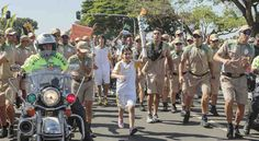 A 12-year-old Syrian refugee girl ran with the Olympic flame through Brasilia.