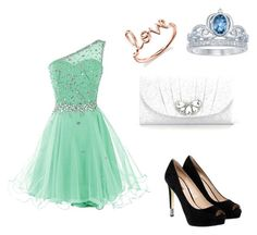 """can i have this dance?"" by ilovetrxcia on Polyvore featuring GUESS, Kate Landry, Sydney Evan and Disney"