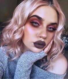 🐻🌸 Palette + Liquid Lipstick in Grim Luster Dust in Chill Pill New Beyond Powder Highlighter in Daze Cheek Palette in Acoustica + Fix+ Brow Zings + BADgal Bang Mascara Emo Makeup, Makeup 101, Grunge Makeup, Dark Makeup, Grunge Hair, Cute Makeup, Makeup Goals, Makeup Inspo, Makeup Inspiration