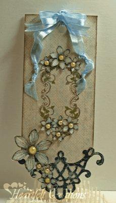 Heartfelt Creations | Blue Fleur Tag. Like the die cut on the bottom.