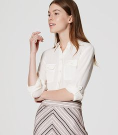 Image of Utility Blouse color Whisper White